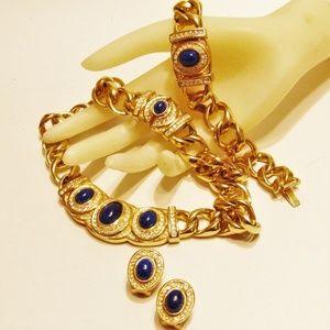 Vintage Dior Necklace Bracelet Earrings Bijoux Set